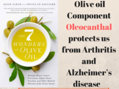 Olive oil Component Oleocanthal protects us from Arthritis and Alzheimer's disease