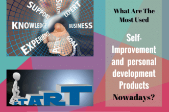 Picture with words success, support, business, goals, knowledge, experience and text What Are The Most Used Self-Improvement Products Nowadays?