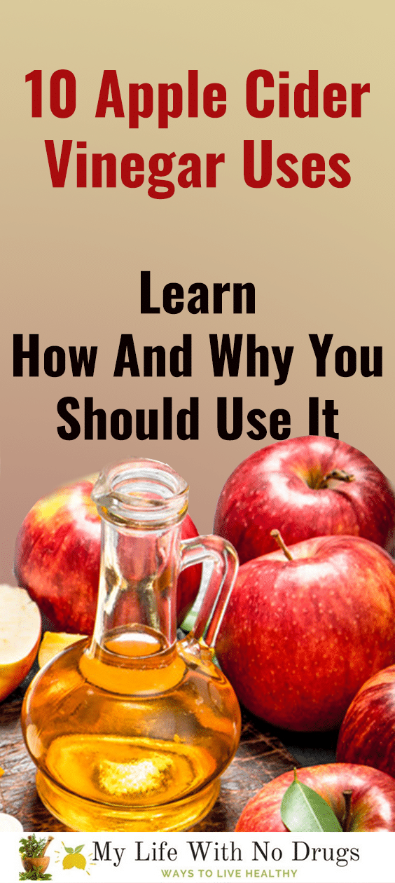 Do you know Apple Cider Vinegar Uses for skin, for weight loss, for hair, for sore throat and cough , for your health ... If not learn them now ! | Mylifewithnodrugs.com