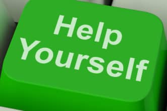 Help Yourself Key Showing Self-Improvement Online