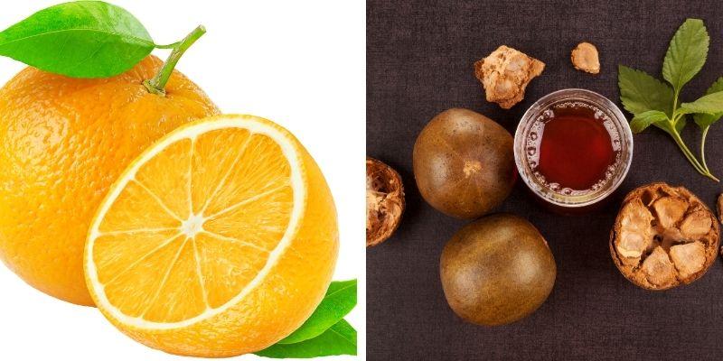 Organic Orange Extract and Organic Monk Fruit Extract